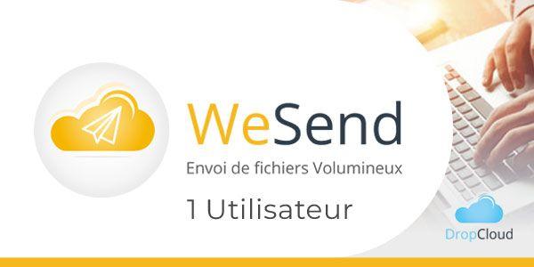 Transfert sécurisé de fichiers volumineux WeSend - 1 Utilisateur - OVHcloud Marketplace