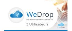 Partage et synchronisation de fichiers WeDrop - 5 Utilisateurs - OVHcloud Marketplace