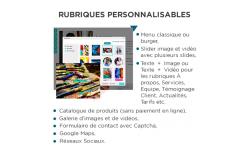 Site Vitrine & E-Commerce - Clés en main - OVHcloud Marketplace